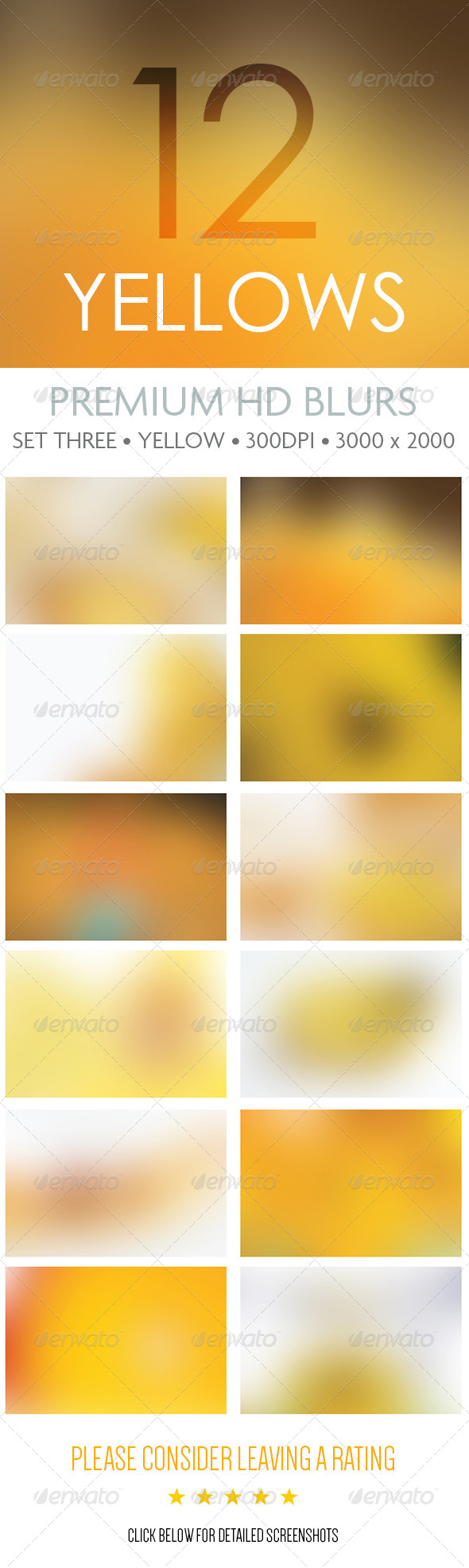 Premium HD Blurs - Set Three - Backgrounds Graphics
