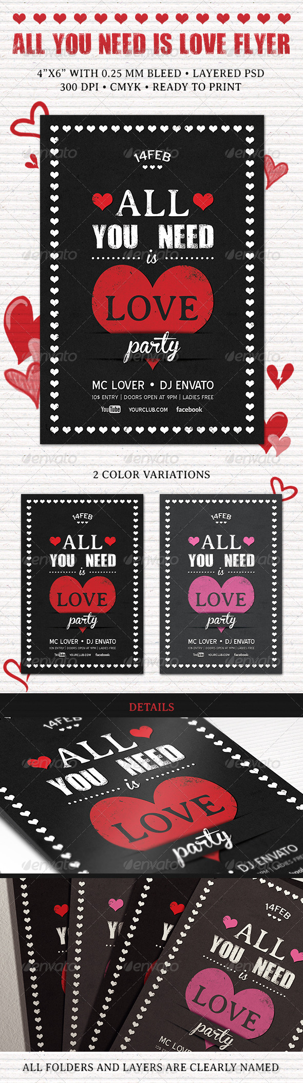 All You Need is Love Flyer - Flyers Print Templates