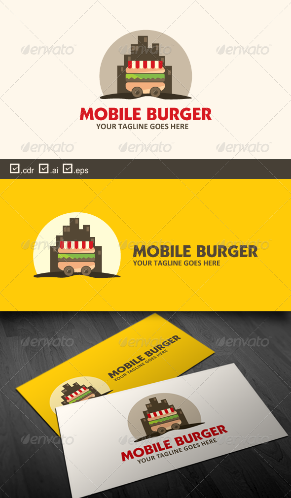 Mobile Burger - Food Logo Templates