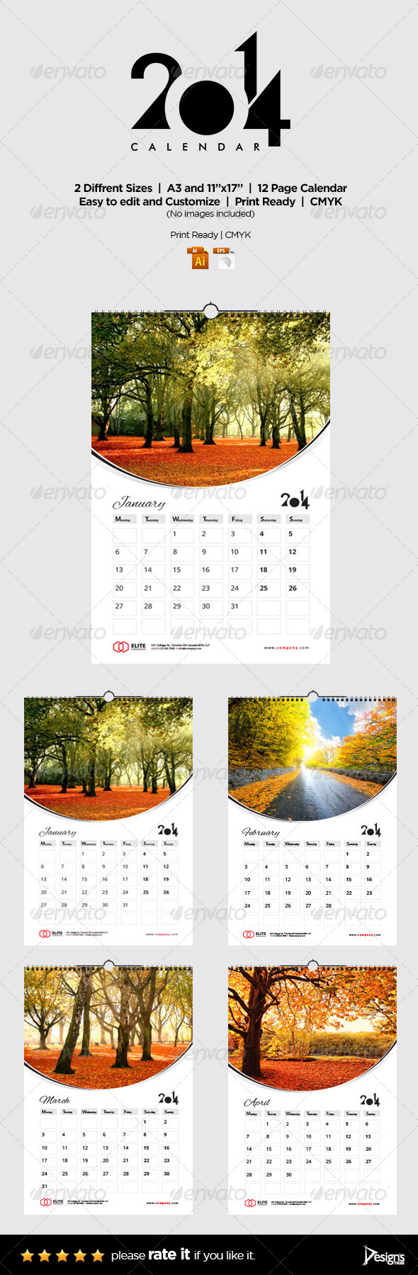 Wall Calendar 2014 Vol 2 - Calendars Stationery