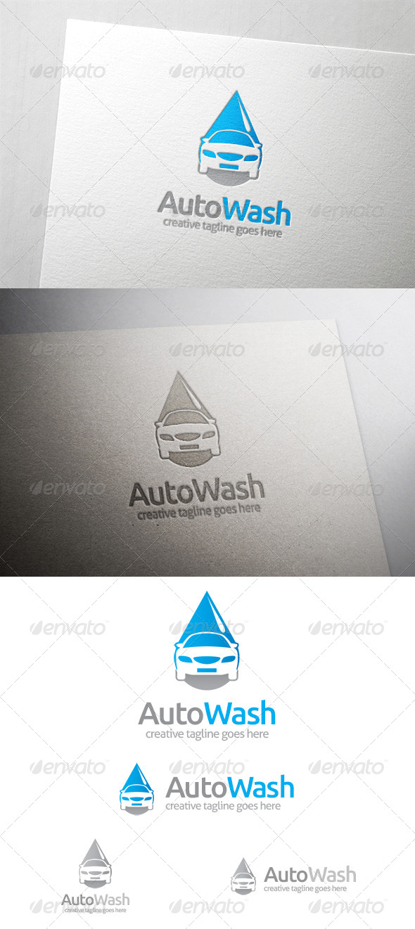 Auto Car Wash Logo - Objects Logo Templates