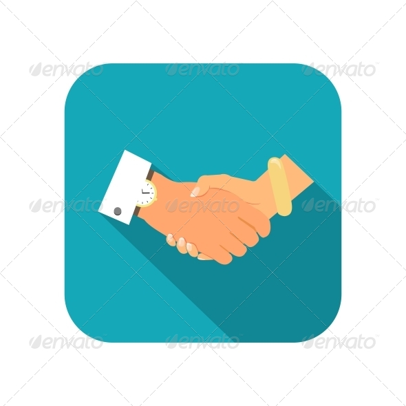 Business Person Handshake - Web Elements Vectors