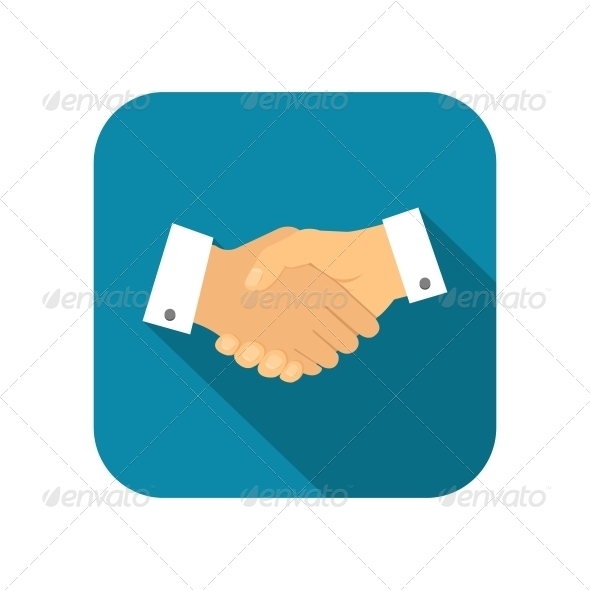 Businessman Handshake Icon - Web Elements Vectors