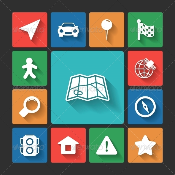 Navigation Icons Set  - Web Elements Vectors