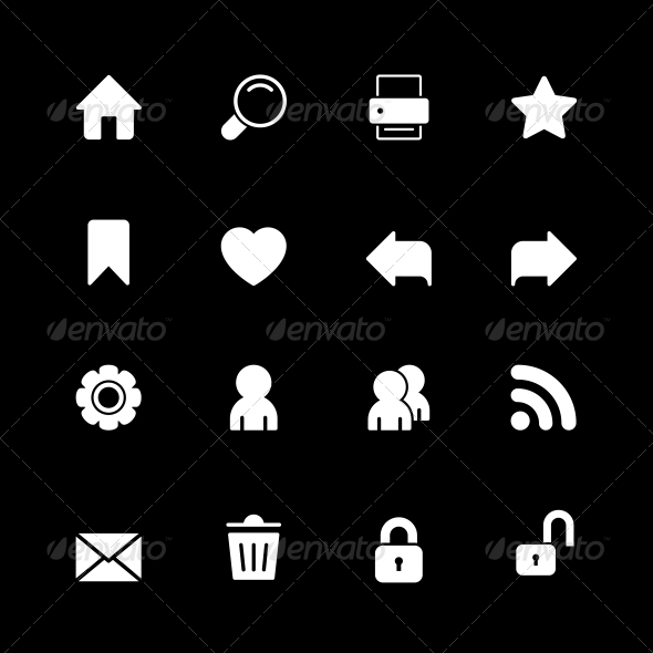 Web Technology Icons Set - Web Technology