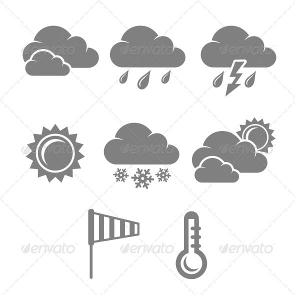 Weather Symbols Set - Web Technology