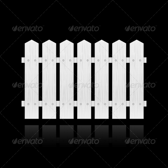 White Fence Tile - Buildings Objects