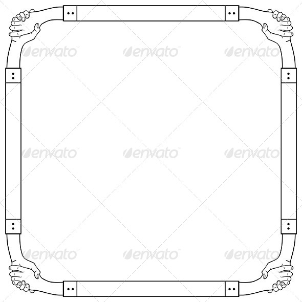 Hand Frame - Patterns Decorative