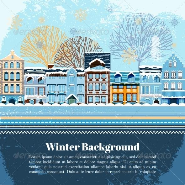Winter Invitation Postcard Template - Christmas Seasons/Holidays