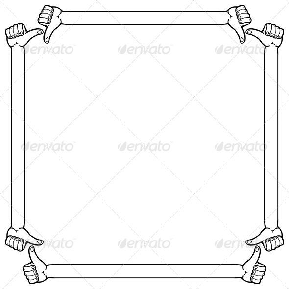 Hand Frame - Patterns Decorative