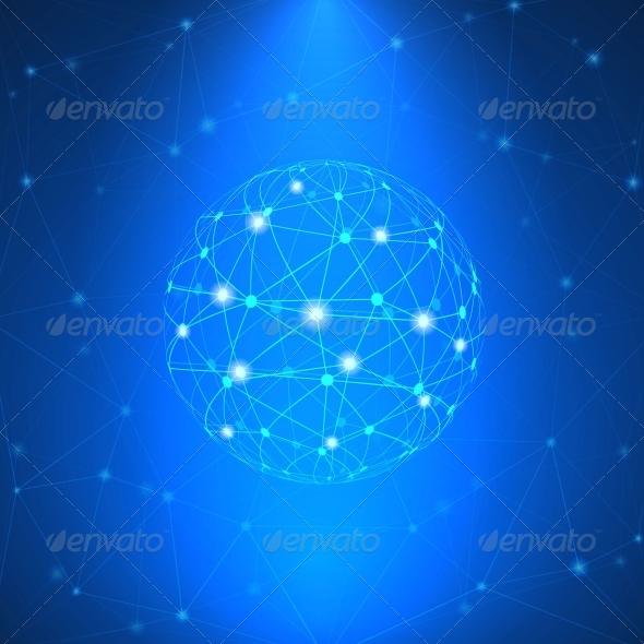 Glowing Network Sign - Decorative Symbols Decorative