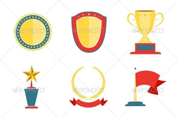 Award Badges Collection - Web Elements Vectors