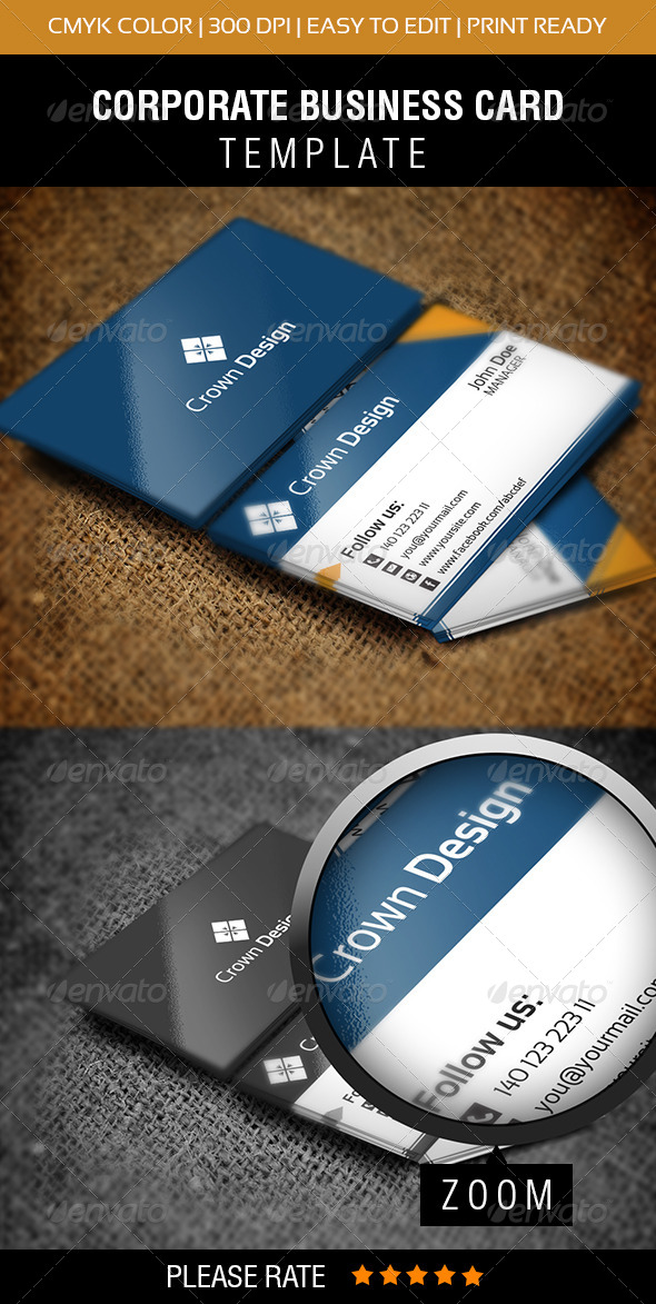 Crown Design Business Card - Corporate Business Cards