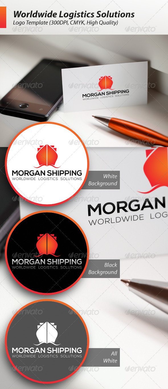 Worldwide Logistics Solutions Shipping Logo - Symbols Logo Templates