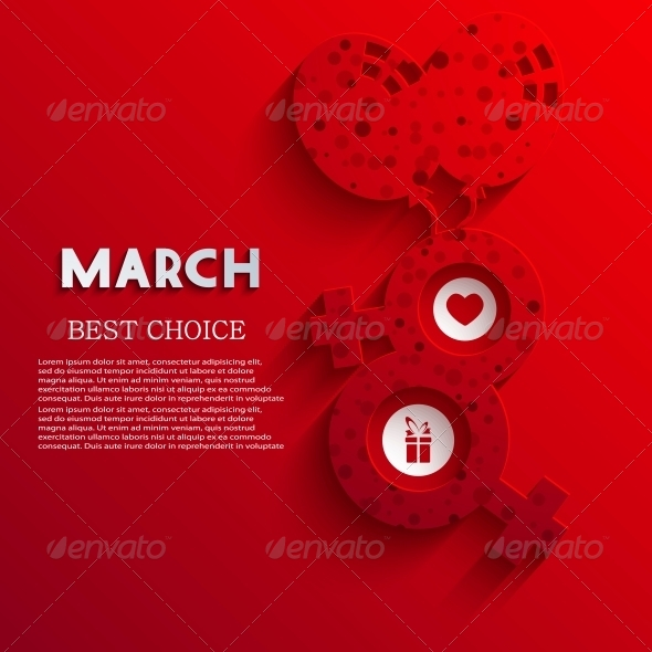 Vector Women's Day Background - Valentines Seasons/Holidays