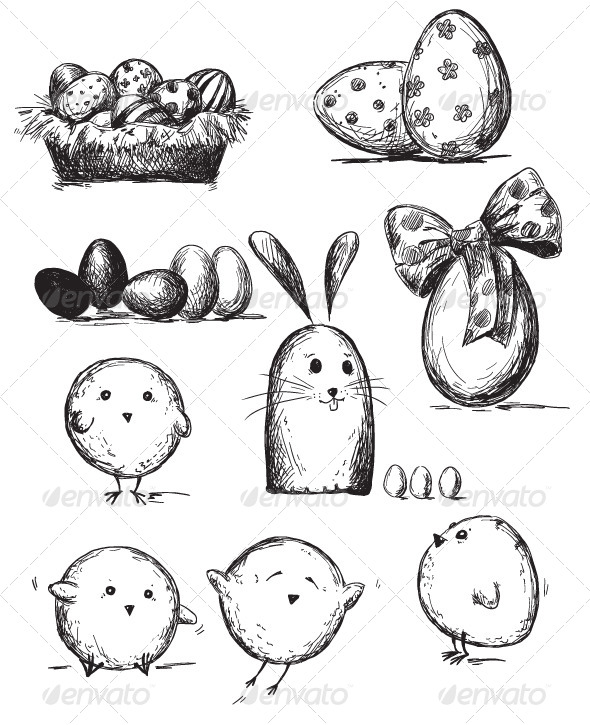 Selection of Easter Drawings - Seasons/Holidays Conceptual