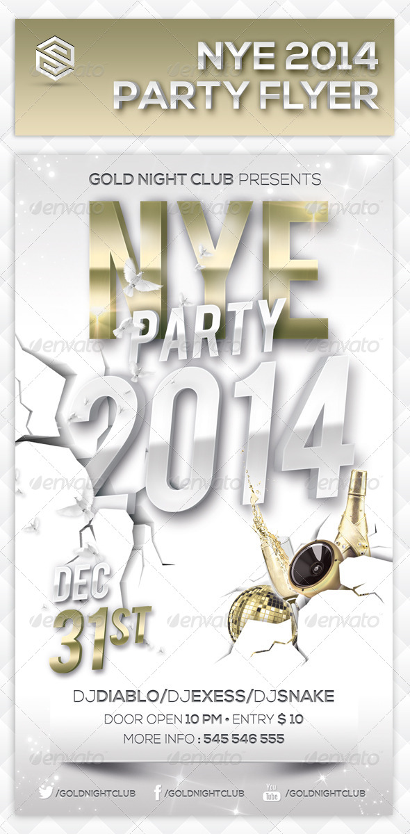 New Year Events Party Flyer - Events Flyers