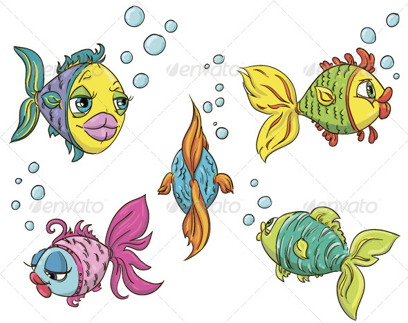 Set of Fish - Animals Characters