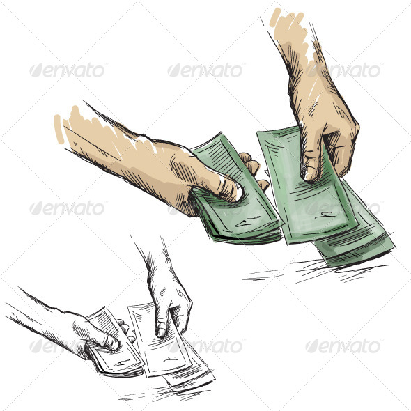 Hands Counting Cash Money - Concepts Business