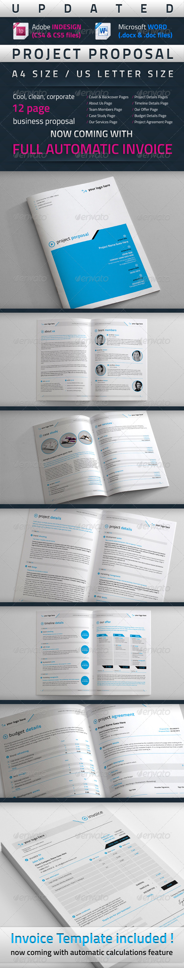 Project Proposal Template (Updated) - Proposals & Invoices Stationery