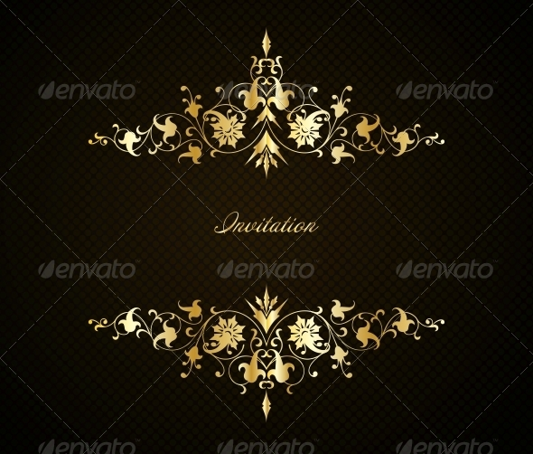 Vintage Floral Background - Decorative Symbols Decorative