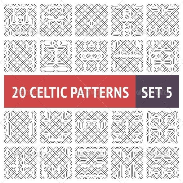Celtic Patterns Set - Patterns Decorative