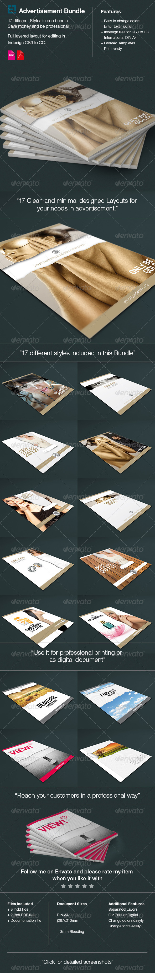 17 Layouts Advertisments Bundle - Flyers Print Templates