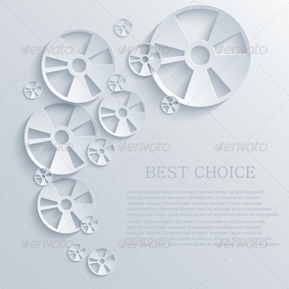 Vector Circle Abstract Background - Web Technology