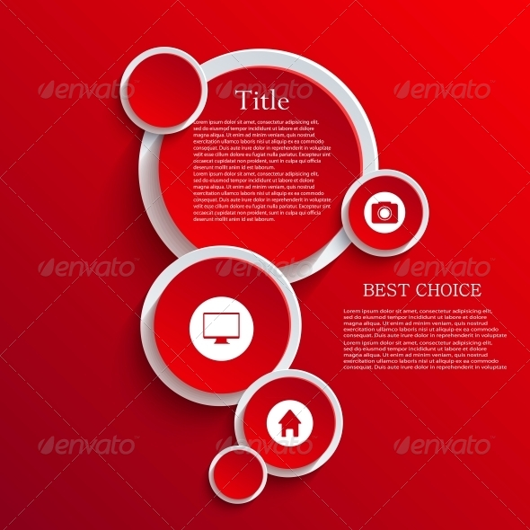 Vector Infographic Background Design - Web Technology