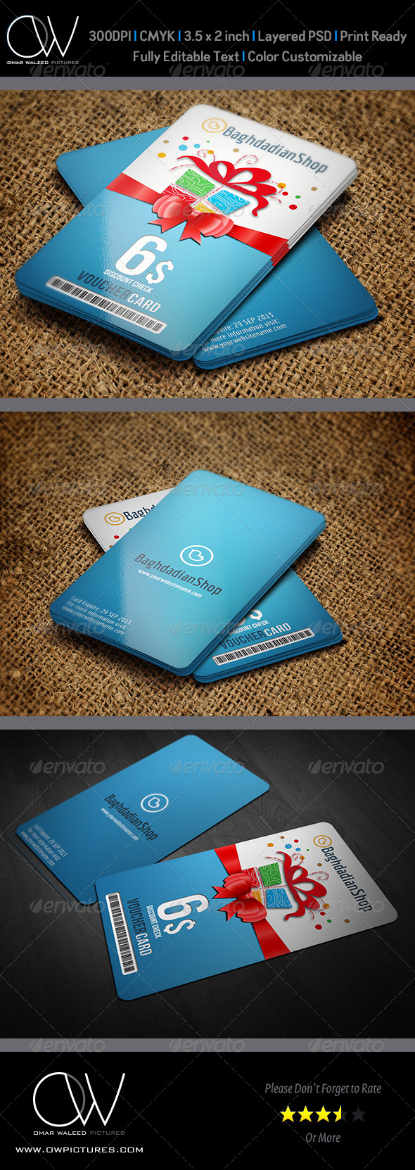 Gift Voucher Card Template Vol. 8 - Cards & Invites Print Templates