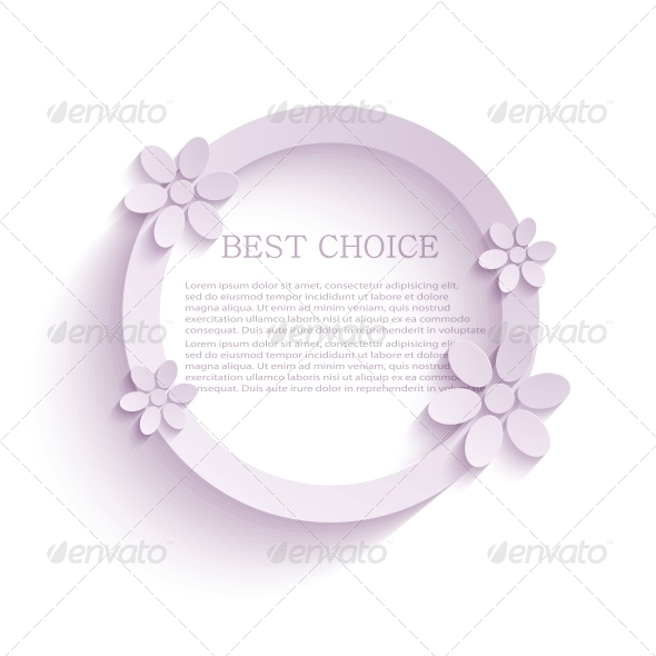 Vector Flower Background - Decorative Symbols Decorative