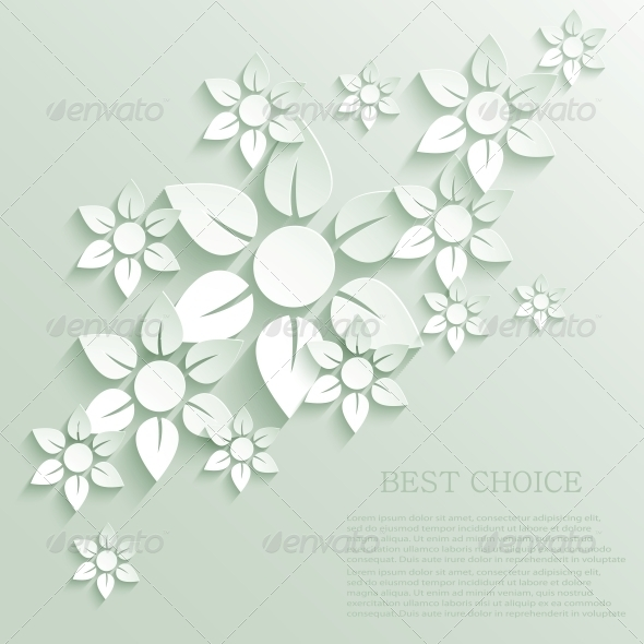 Vector Flower Background - Decorative Symbols Decorative