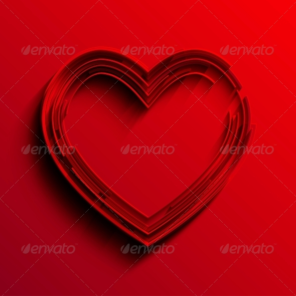 Vector Heart Background - Valentines Seasons/Holidays
