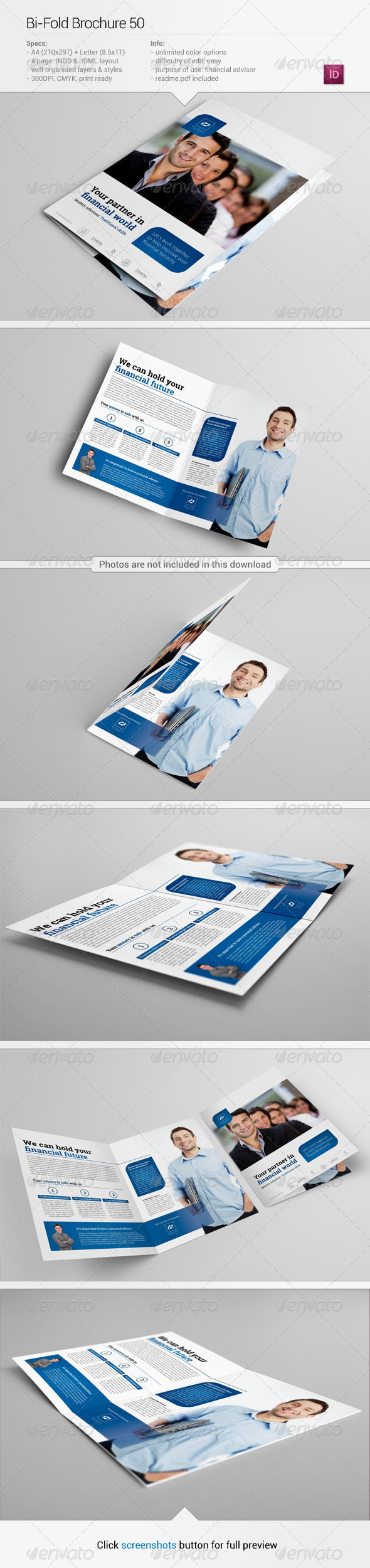 Bi-Fold Brochure 50 - Corporate Brochures