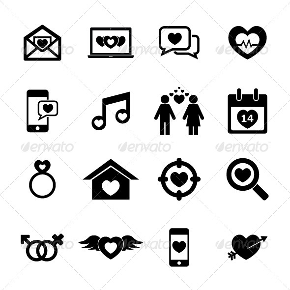 Love Icon - People Characters