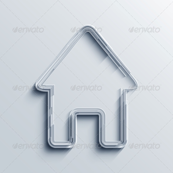 Vector Real Estate Icon Background - Buildings Objects