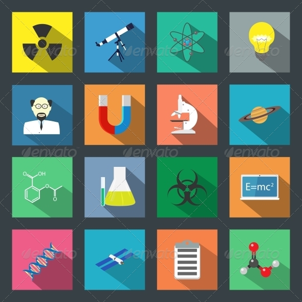 Science Flat Icons Set - Miscellaneous Icons