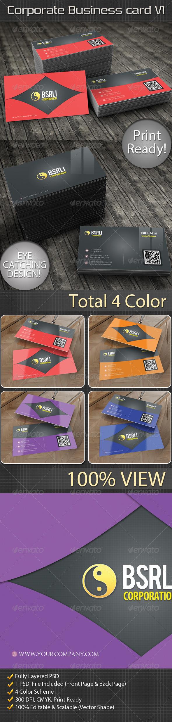 Corporate Business Card V1 - Corporate Business Cards