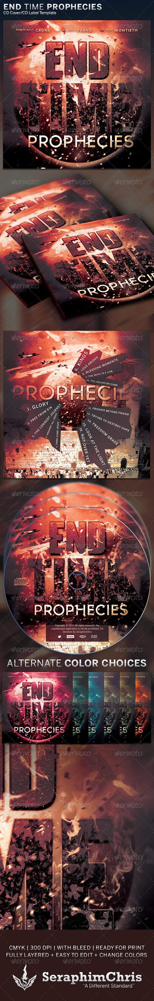 End Time Prophecies: CD Cover Artwork  Template - CD & DVD Artwork Print Templates