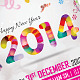 Happy New Year Flyer 2014 - GraphicRiver Item for Sale