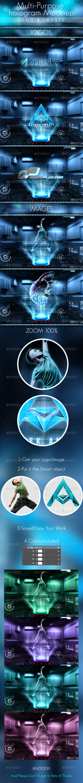 Multi-purpose hologram mock-up - Product Mock-Ups Graphics