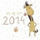 Christmas Card with Cartoon Horse - GraphicRiver Item for Sale