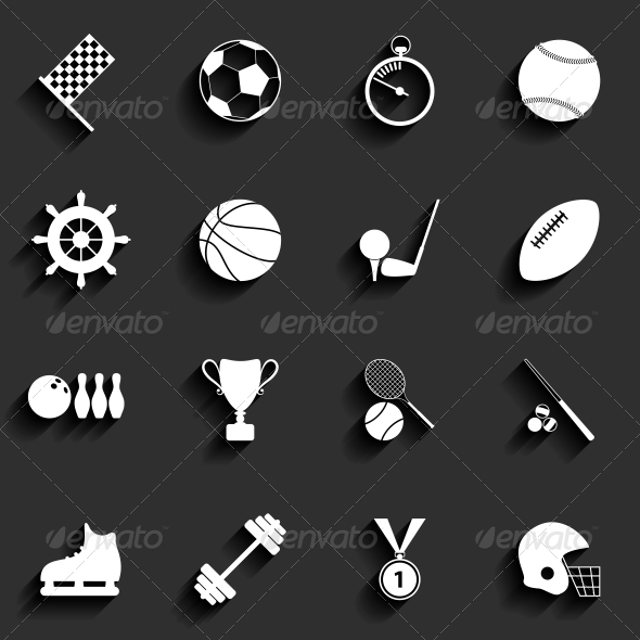 Set of Sport Icons in Flat Design - Sports/Activity Conceptual