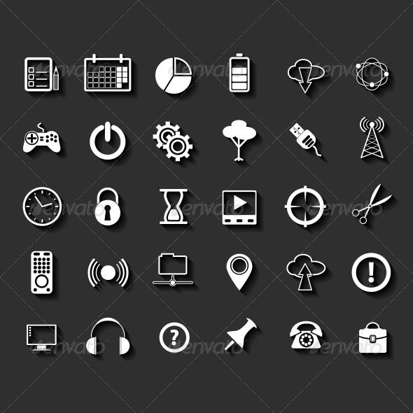 Universal Flat Icons - Web Elements Vectors