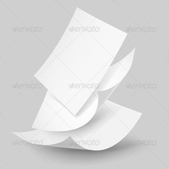 Falling Paper Sheets. - Miscellaneous Vectors