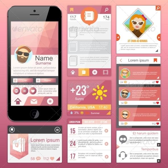 Flat Web Design - Web Technology