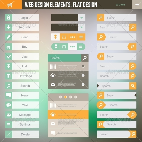 Set of the Buttons - Web Technology