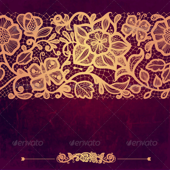 Vintage Card on Grunge Background - Patterns Decorative