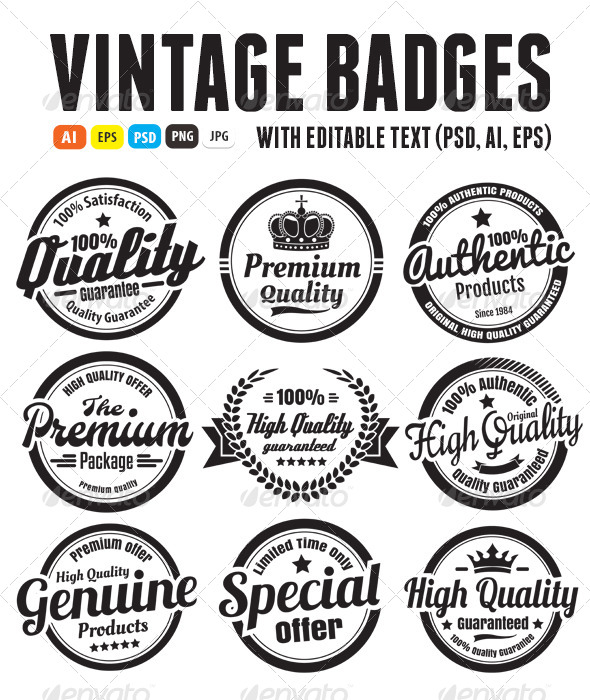 Premium high quality guarantee badges badges stickers web elements