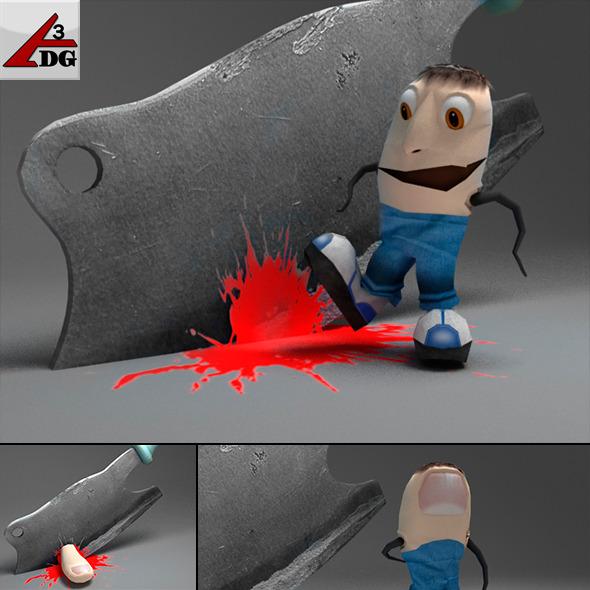 Finger man :D - 3DOcean Item for Sale